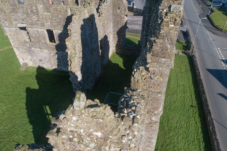 Wall tops at Castlecaulfield