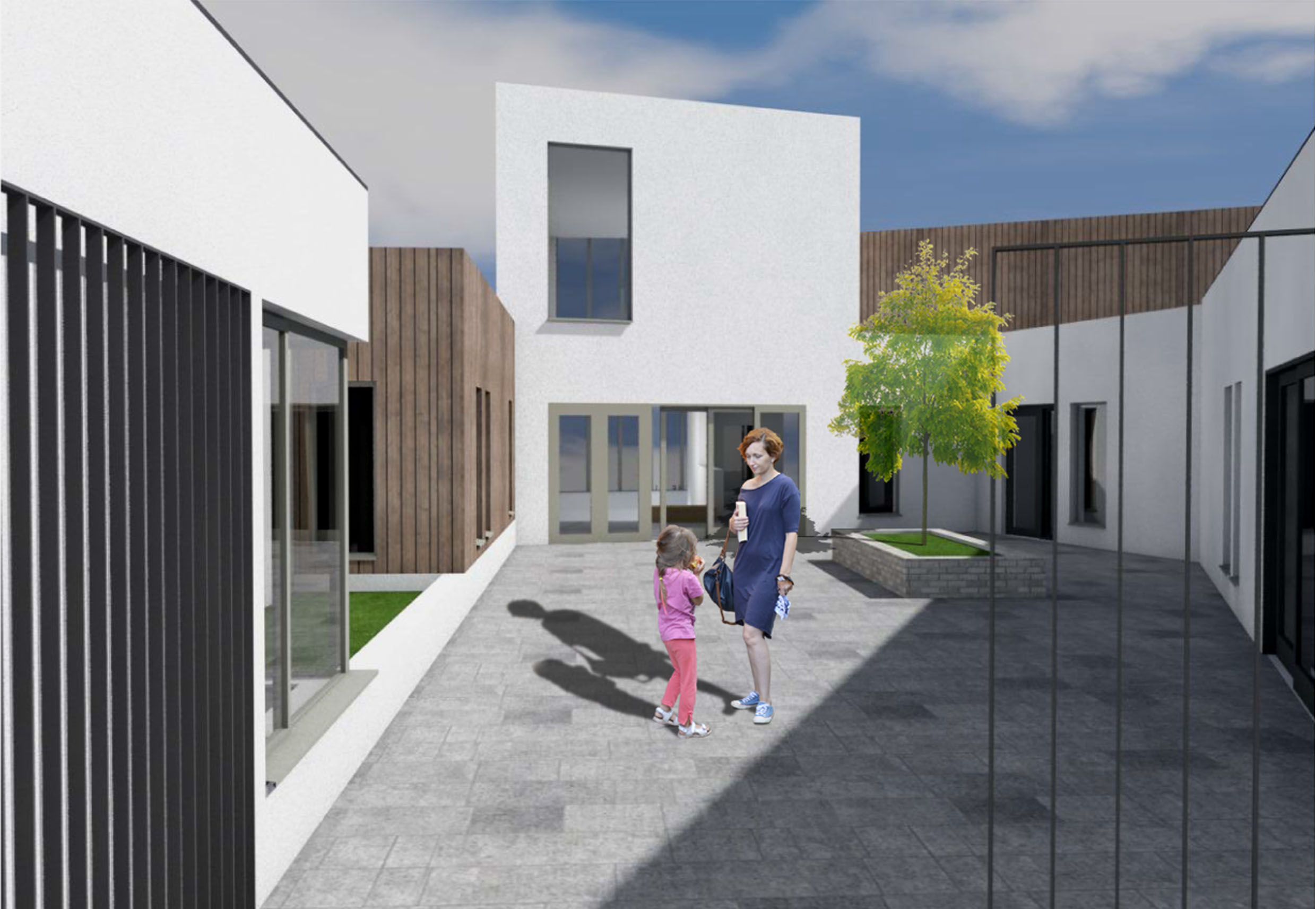Artist's design of the rear of the new Top of the Hill community centre