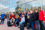 Photo of group of young people at Liverpool Airport