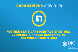 Further State Care heritage sites will commence a phased reopening to the public from 6 July.
