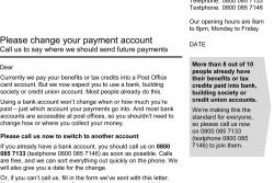 Payment Account Letter