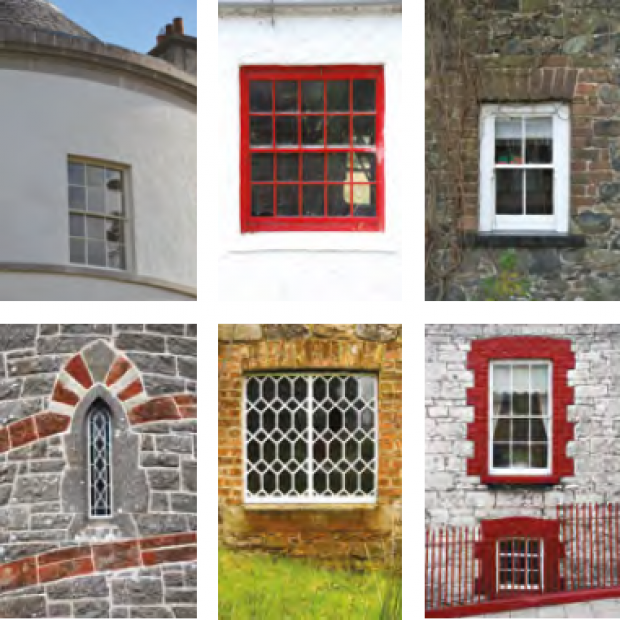 Listed Buildings Maintenance - image of windows and glass