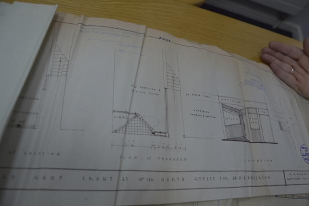 Shopfront detail from North Street plans