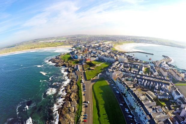 Portrush from the air