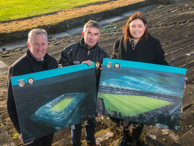 Picture of Casement Park this morning
