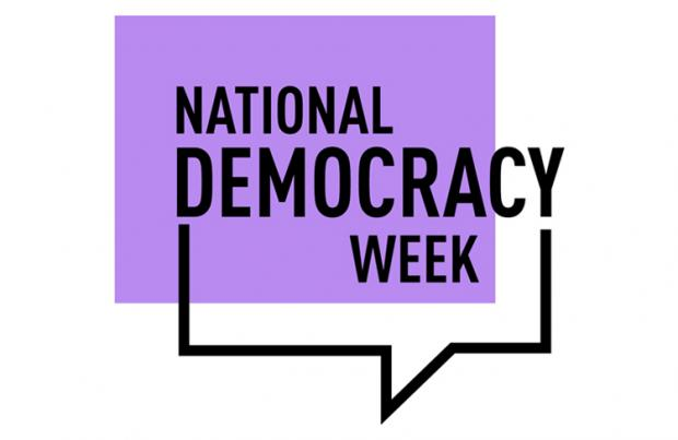 logo displaying words National Democracy Week