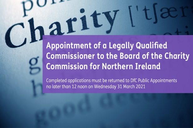 Competition to appoint a Legally Qualified Commissioner to the Board of the Charity Commission for Northern Ireland