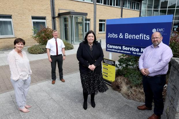 Minister acknowledges Universal Credit staff on visit to Newry office