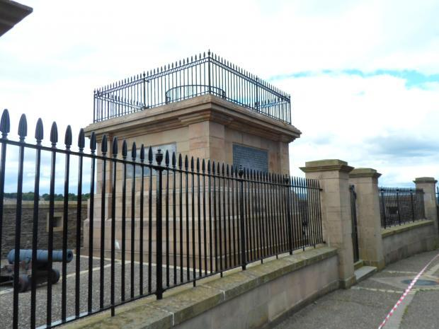 The Royal Bastion and Plinth on the historic City Walls in Derry~Londonderry