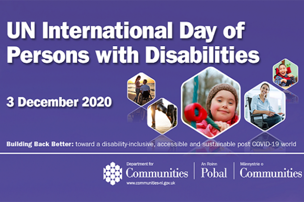 The Department for Communities and Disability Action today co-hosted an online event to celebrate the United Nations International Day of Persons with Disabilities