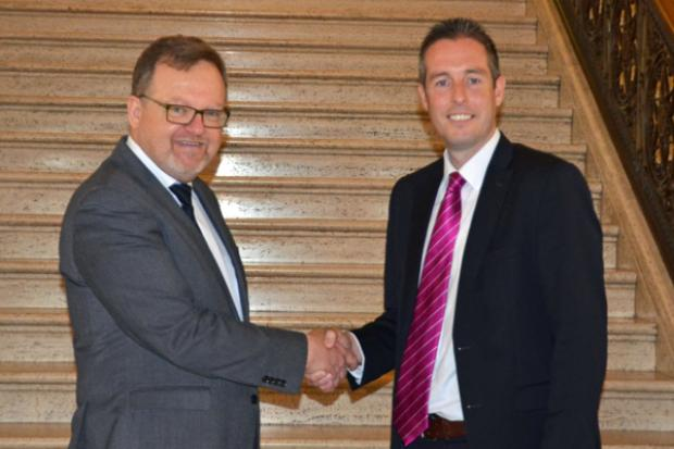 Minister Givan meets Dan Golan, Cultural Attaché for the Israeli Embassy