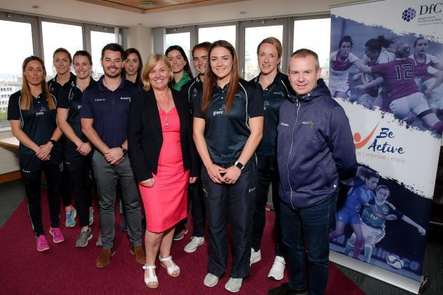 DfC Permanent Secretary meeting with members of the Northern Ireland netball team