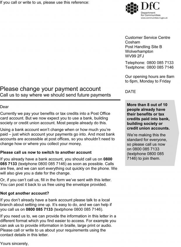 Department confirms validity of payment account letter to claimants payment account letter spiritdancerdesigns Images