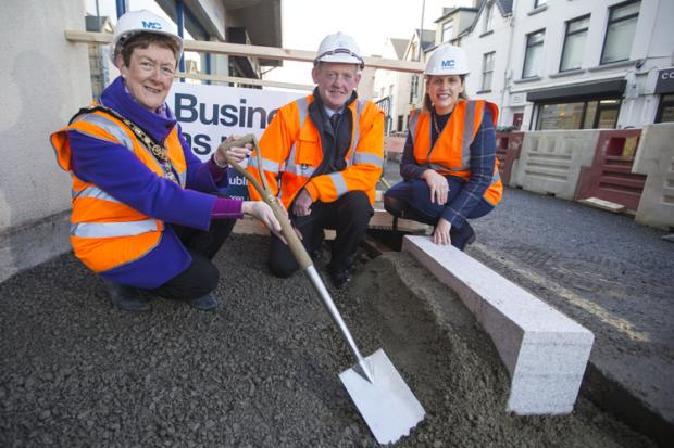 Pictured are (L-R) Joan Baird OBE, Mayor of Causeway Coast & Glens Borough Council, Jim McCloy, F P McCann and Pauline Campbell from the Department for Communities.