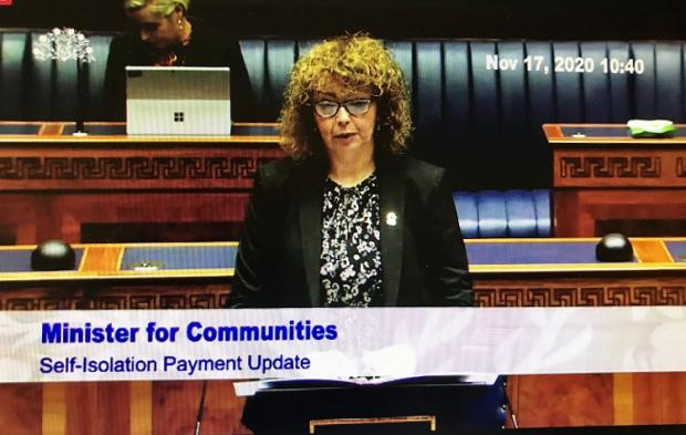 Self-isolation payment update to the Assembly by Communities Minister, Carál Ní Chuilín