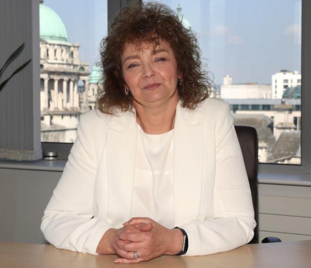 Head and shoulders photograph of Minister Carál Ní Chuilín