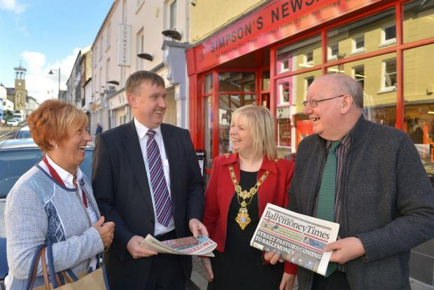 Minister for Social Development, Mervyn Storey, MLA has attended an event to celebrate the completion of revitalisation works in Ballymoney town centre