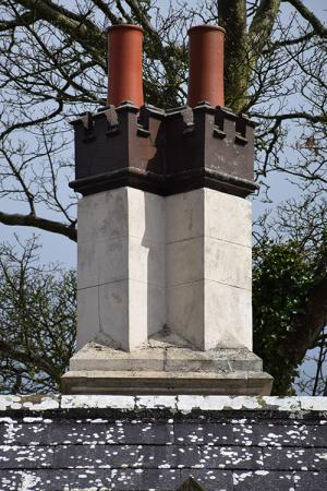 Ballycultler– Chimneys were designed externally to reflect the 'style' of dwellings.