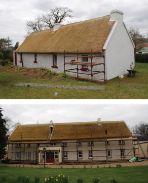 Listed Buildings Maintenance - image of thatch restoration