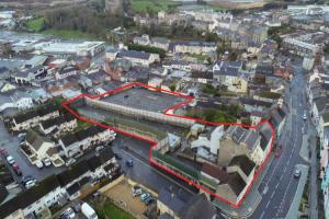 Map of the Irish Street development scheme in Downpatrick