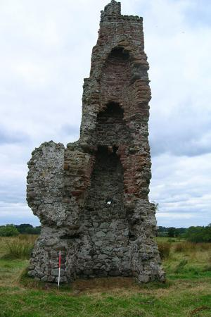 Mahery Tower – The remnants of this series of hearths gives an indication of how early hearths and flues were built vertically aligned to chare a chimney which may have had several parallel flues.